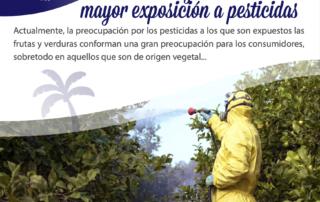 frutas y verduras más expuestas a pesticidas